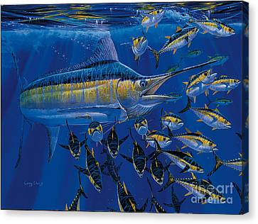 Blue Millennium Canvas Print by Carey Chen