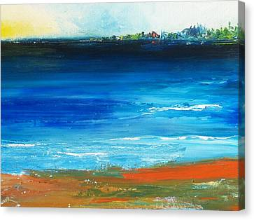 Blue Mist Over Nantucket Island Canvas Print by Conor Murphy