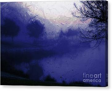 Blue Misty Reflection Canvas Print by Julie Lueders