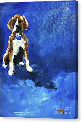 Blue Monday Canvas Print by Maria's Watercolor