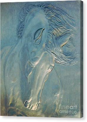 Canvas Print featuring the digital art Blue Monday by Suzette Kallen