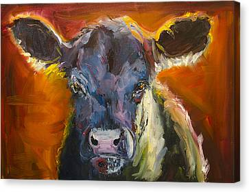 Blue Moo Canvas Print
