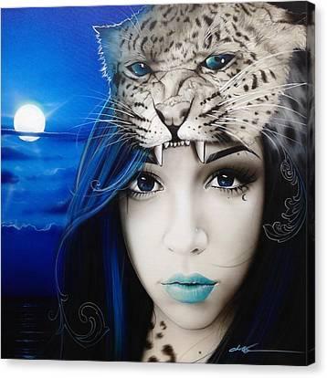 Portrait - ' Blue Moon ' Canvas Print