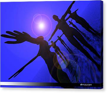 Blue Moon Dancers Canvas Print
