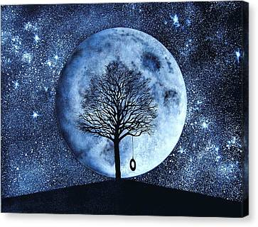 Blue Moon Canvas Print by Holly Smith