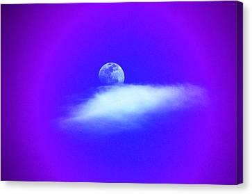 Blue Moon Lavender Sky Canvas Print by Susanne Still