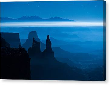 Canvas Print featuring the photograph Blue Moon Mesa by Dustin  LeFevre