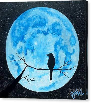 Blue Moon Nights Canvas Print by JoNeL Art