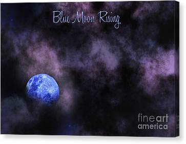 Blue Moon Rising Canvas Print