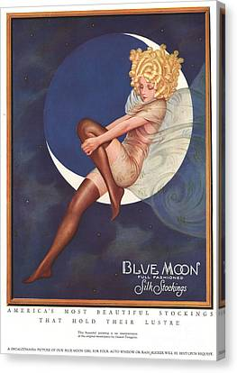 Blue Moon Silk Stockings 1920s Usa Canvas Print by The Advertising Archives