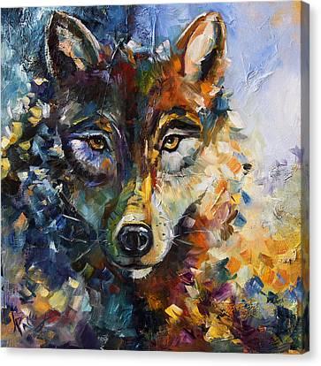 Blue Moon Wolf Canvas Print