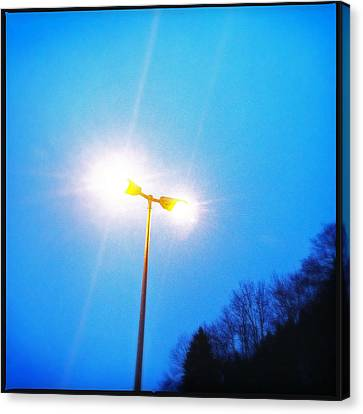 Blue Morning - Bright Beam Of Light Canvas Print
