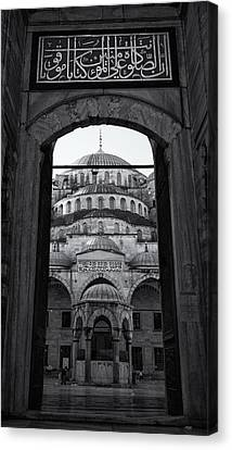 Blue Mosque Court Entrance Canvas Print by Stephen Stookey