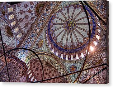 Blue Mosque Istanbul Canvas Print by Nigel Fletcher-Jones