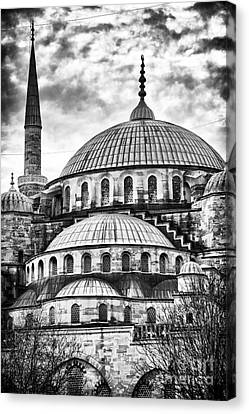 Sultanhmet Canvas Print - Blue Mosque Majesty by John Rizzuto