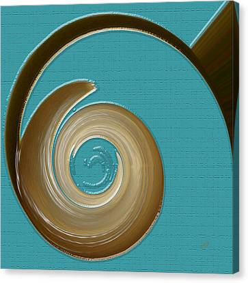 Blue Motion Canvas Print