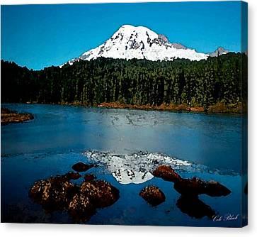 Blue Mountain Canvas Print by Cole Black