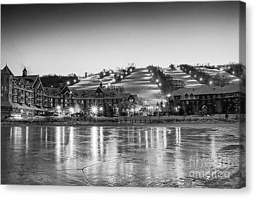 Collingwood Canvas Print - Blue Mountain Ski Resorts by Charline Xia