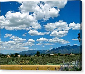 Blue Mountain Skies Canvas Print