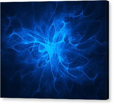 Blue Nebula Canvas Print by Vitaliy Gladkiy
