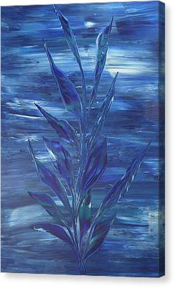 Canvas Print featuring the painting Blue by Nico Bielow