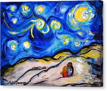 Blue Night Canvas Print by Ramona Matei