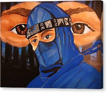Blue Ninja Canvas Print by Lorinda Fore