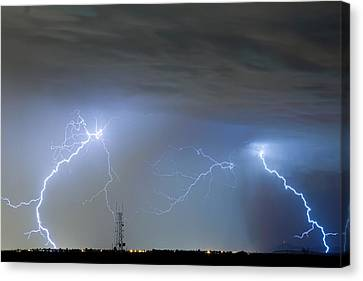 Lightning Decorations Canvas Print - Blue Noise by James BO  Insogna