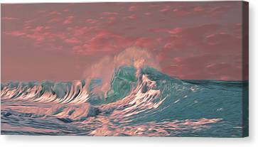 Blue Ocean Wave Canvas Print by Timothy Hack