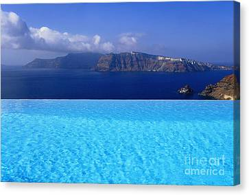 Blue On Blue Canvas Print by Aiolos Greek Collections