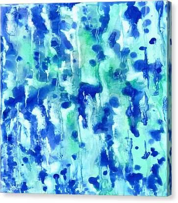 Blue On Blue Canvas Print by Rosie Brown