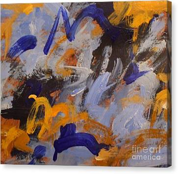 O Give Thanks Unto The Lord - Psalm 107 1a - Abstract Expressionist Painting Canvas Print