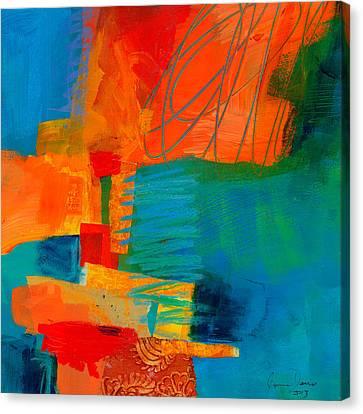Blue Orange 2 Canvas Print by Jane Davies