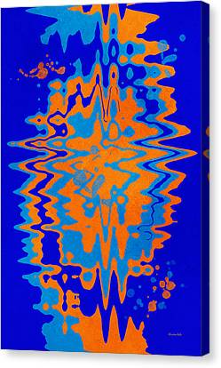 Drop Canvas Print - Blue Orange Abstract by Christina Rollo