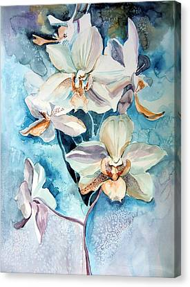 Blue Orchid Canvas Print by Mindy Newman
