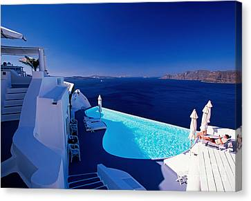 Blue Paradise Canvas Print by Aiolos Greek Collections