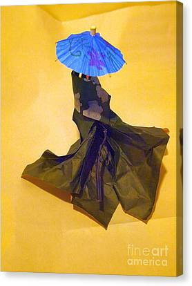 Blue Parasol Canvas Print by Nancy Kane Chapman