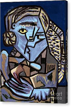Blue Picasso Canvas Print by Gerhardt Isringhaus