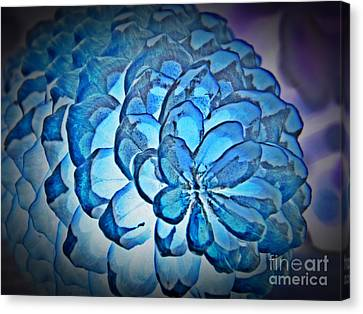 Blue Pine Cone 2 Canvas Print