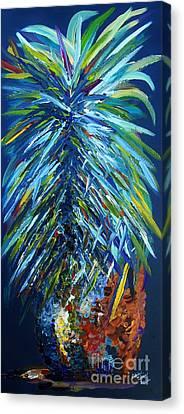 Blue Pineapple Canvas Print by Eloise Schneider