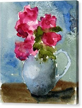 Blue Pitcher  Canvas Print by Anne Duke