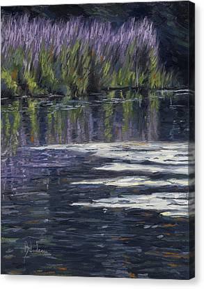 Blue Pond Canvas Print by Lucie Bilodeau