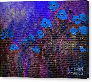 Blue Poppies Canvas Print by Claire Bull