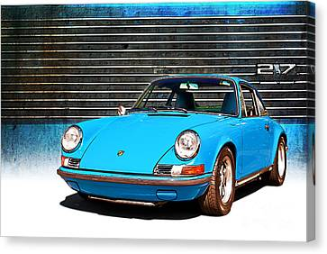Blue Porsche 911 Canvas Print