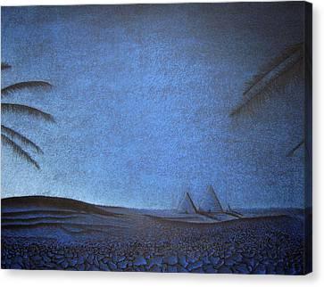 Blue Pyramid Canvas Print