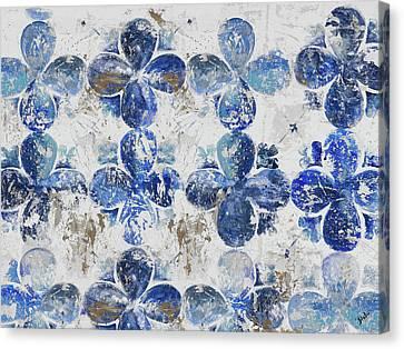 Blue Quatrefoil Panel Canvas Print by Patricia Pinto