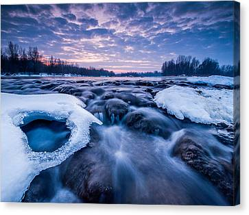 Blue Rapids Canvas Print by Davorin Mance