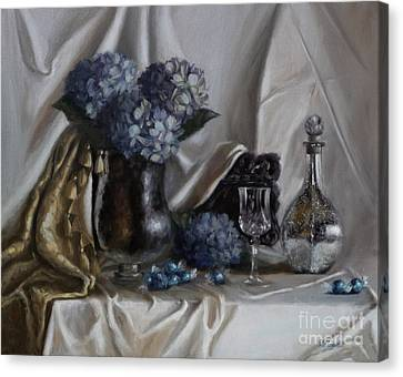 Blue Reflections Canvas Print by Viktoria K Majestic