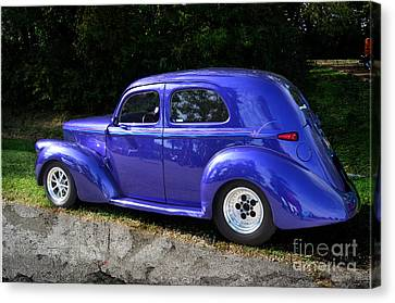 Blue Restored Willy Car Canvas Print by Luther Fine Art