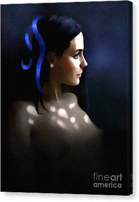 Blue Ribbon Canvas Print by Robert Foster